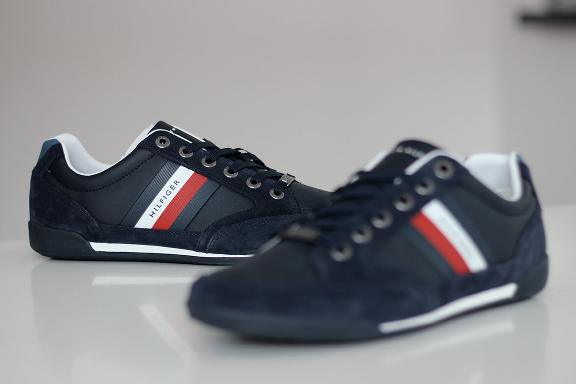 Sneakersy męskie Tommy Hilfiger Corporate Material Mix Cupsole