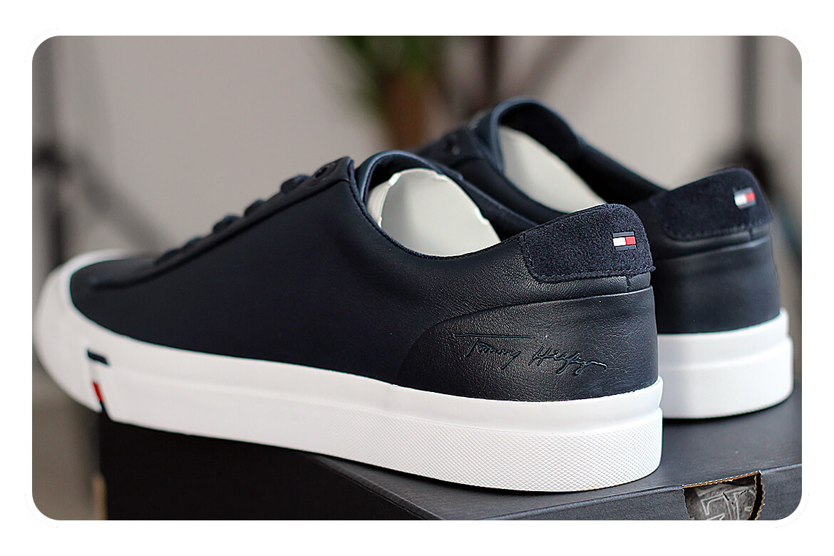 "Tommy Hilfiger Corporate Leather Sneaker"" width="